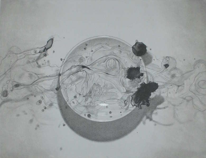 絵皿の上の絵の具